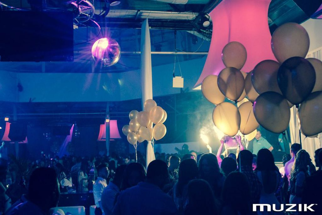 toronto night club with pink modular structure by laqfoil