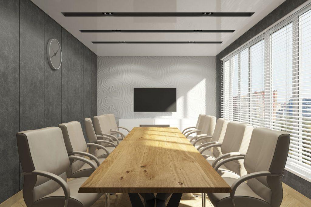 NOR Development Inc office backlit ceiling