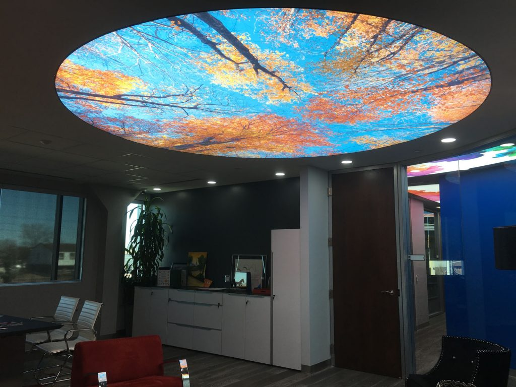 Nando Office with luxury backlit printed ceiling thailand