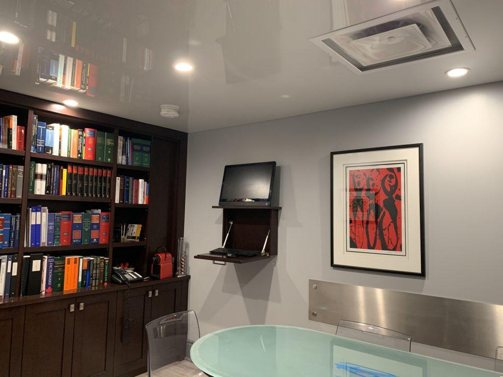 RV Law Office ceiling potlights