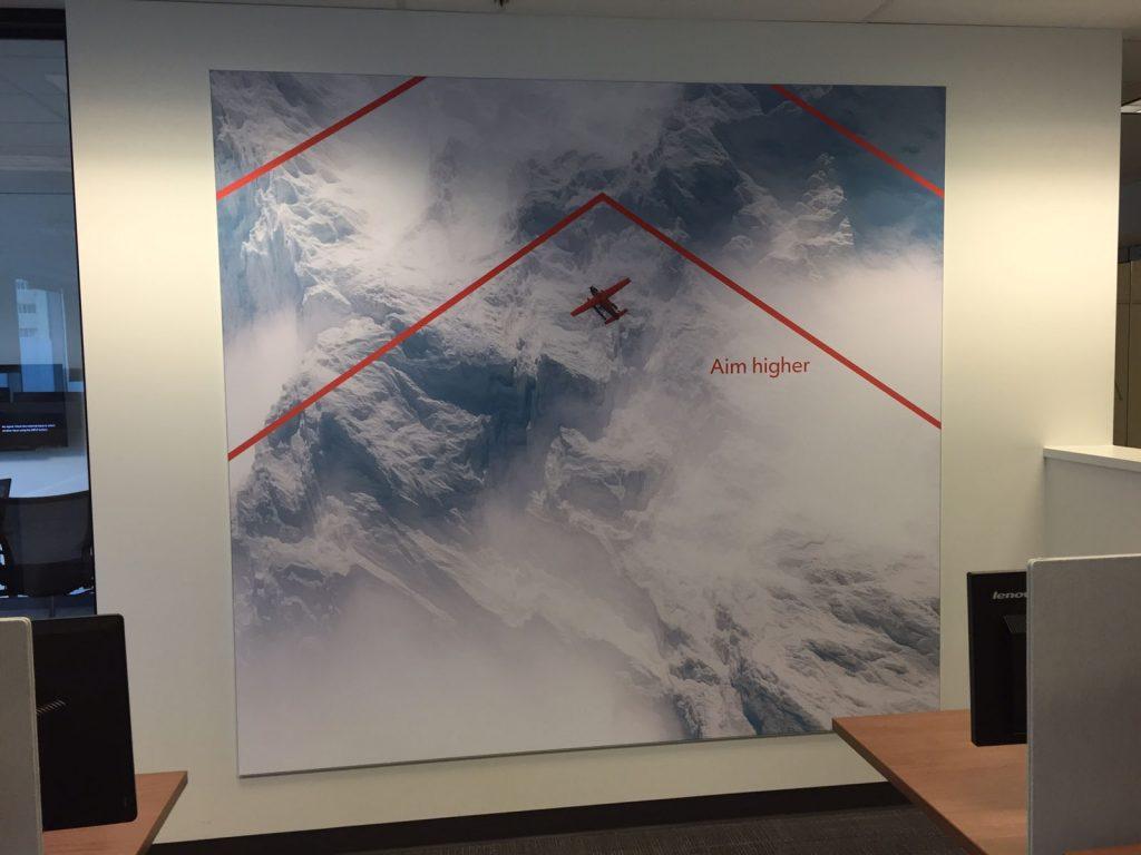 Rogers aim higher custom wall cover