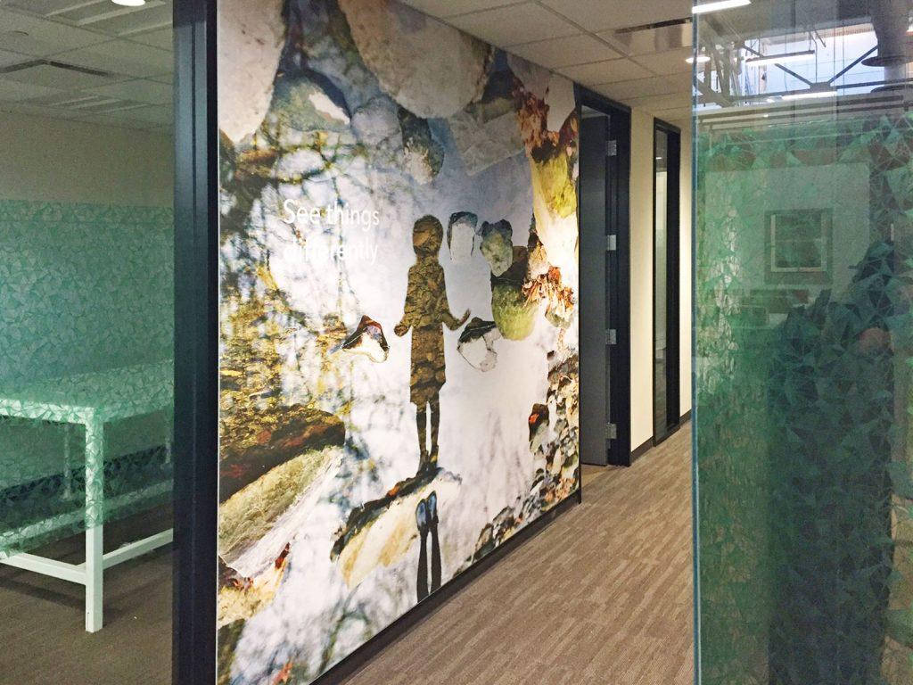 amazing printed mural in luxury office toronto