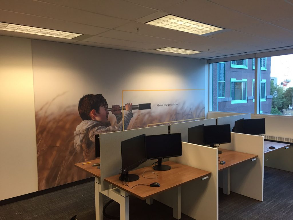 Rogers gain new perspective custom wall mural in the office