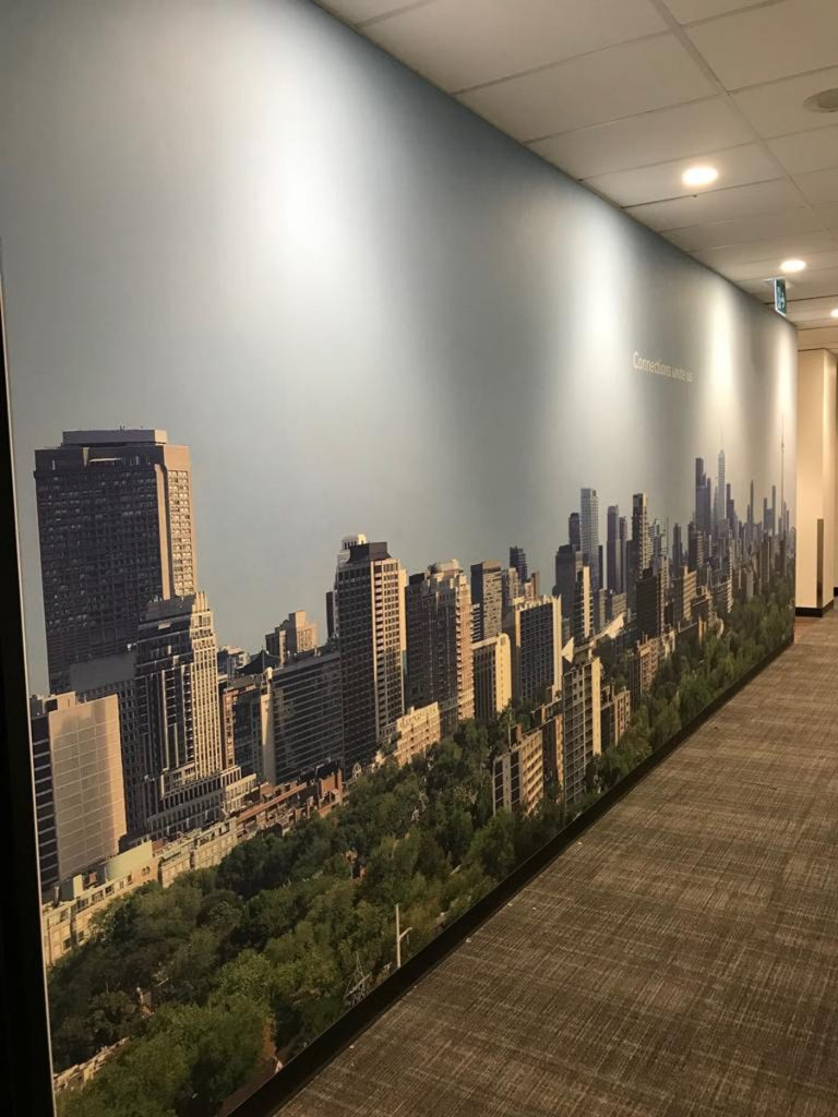 photo of toronto in custom wall cover rogers office