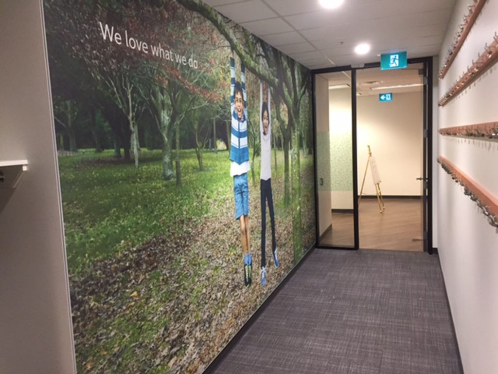 Rogers we love what we do custom wall cover