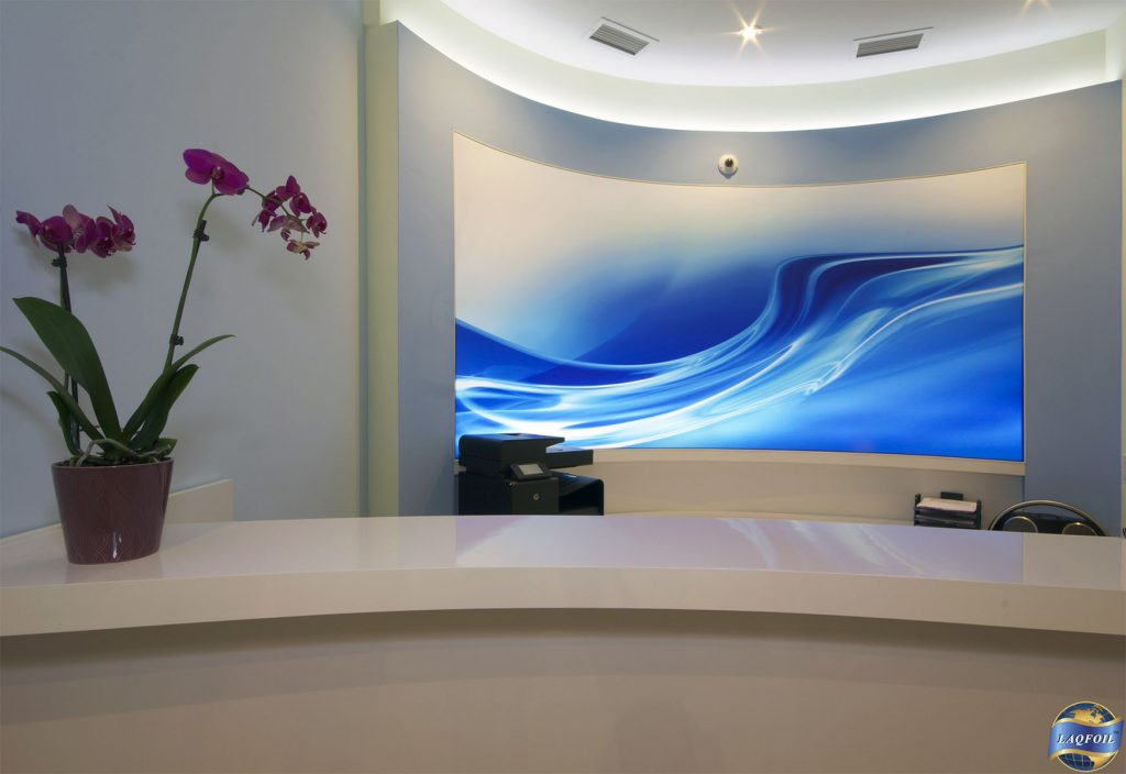 amazing custom wall cover in luxury office canada