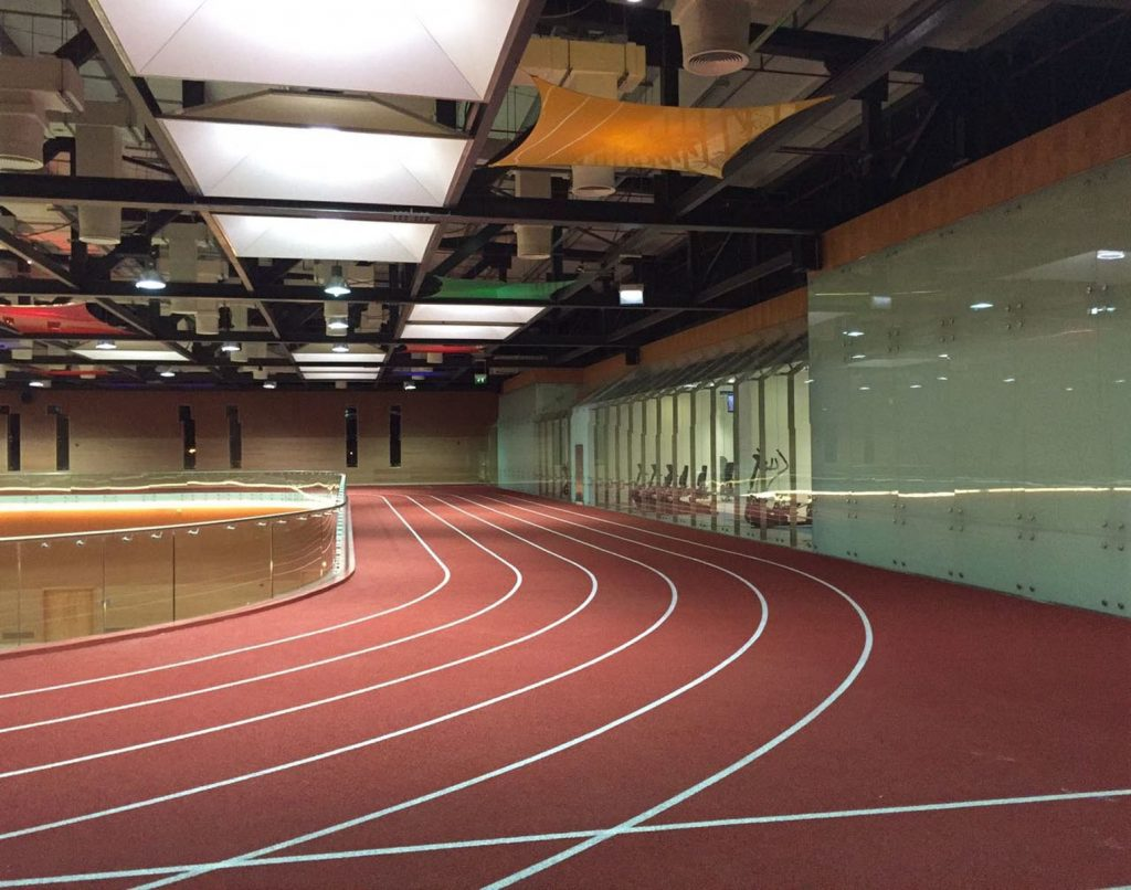 luxury running track with multi color modular structure Canada