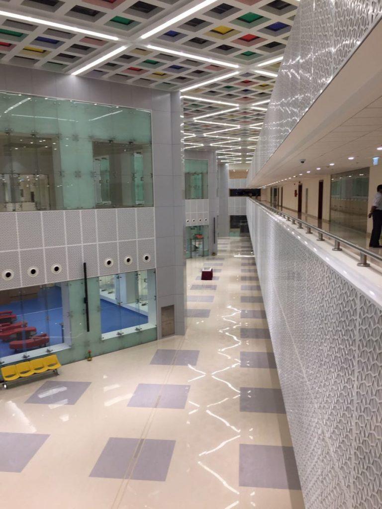 Sultan Qaboos Youth Center, Oman second floor modular structures ceiling