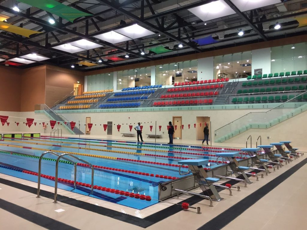 Sultan Qaboos Youth Center swimming pool modular structure