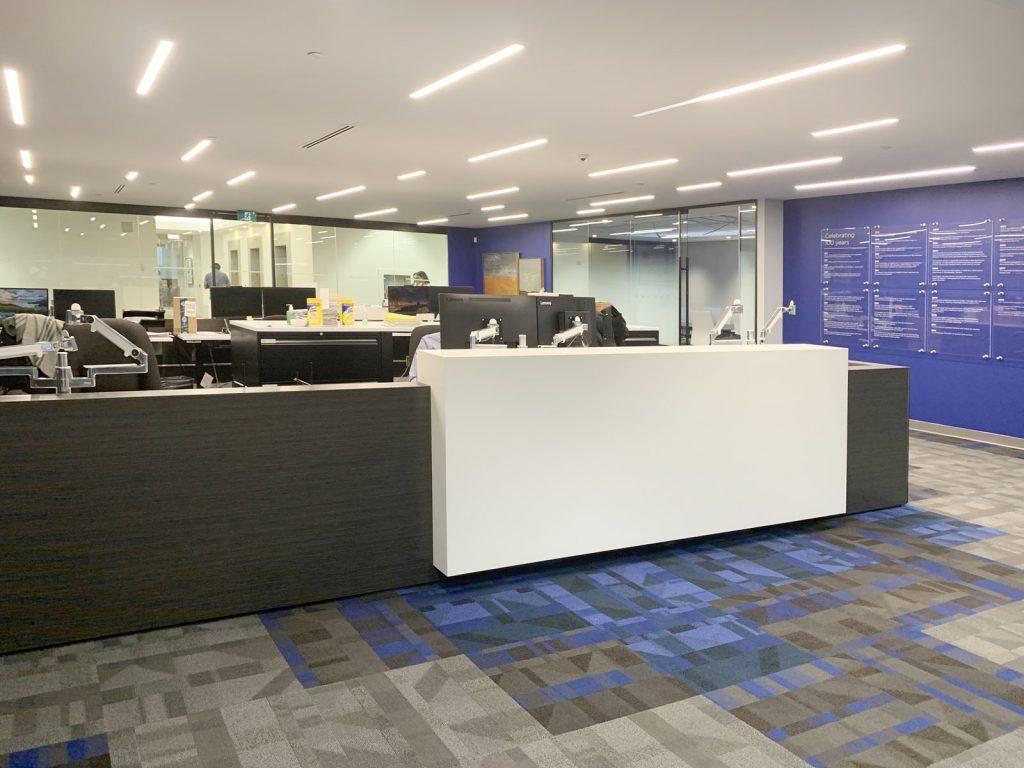 Linear Lights Ceilings in custom office toronto