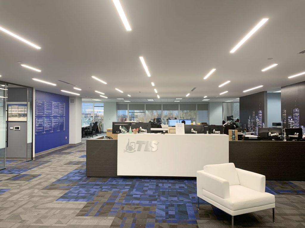 Linear Lights Ceilings in TLS brokerage office