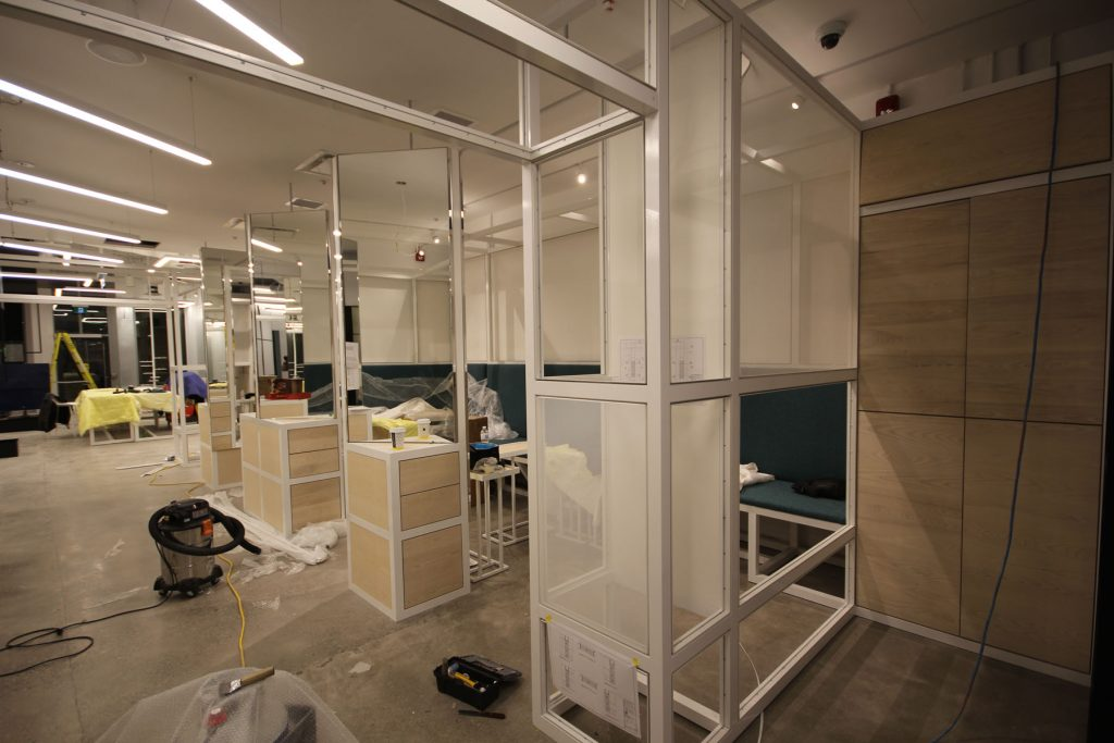 Thalmic Labs before finishing glass walls