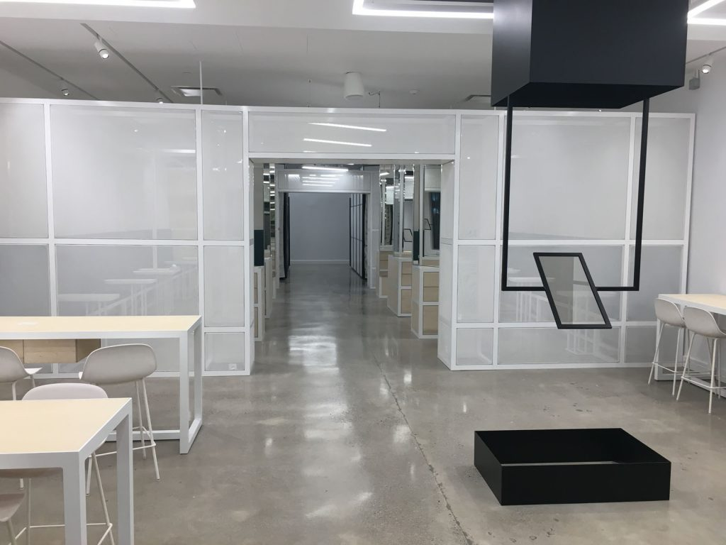 Thalmic Labs open space offices with Linear Lights Ceiling canada