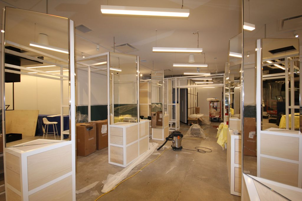 Thalmic Labs before laqfoil project on glass walls and Linear Lights Ceiling south africa