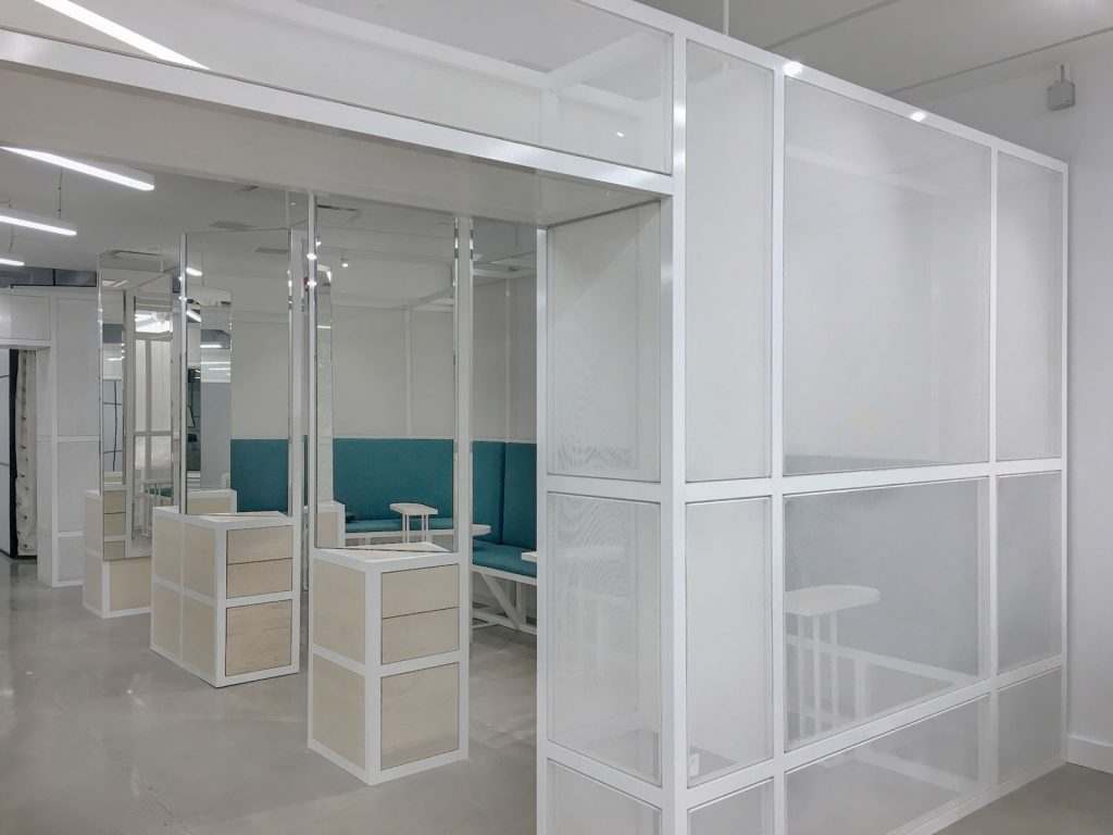 Thalmic Labs open space white glass walls