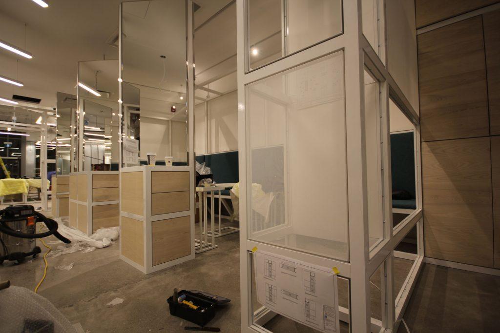 Thalmic Labs work in progress of install glass walls