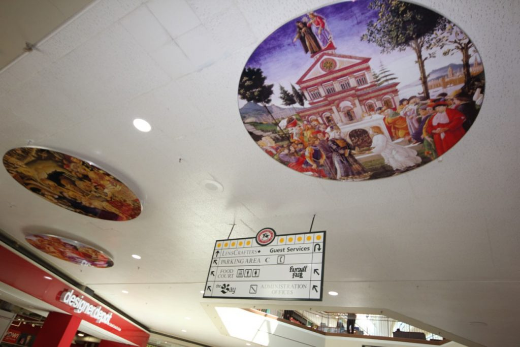 amazing stretch fabric ceiling murals Montreal
