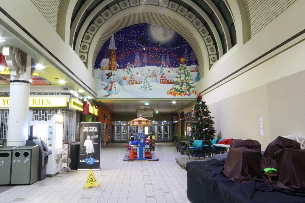 Woodbine Mall chrism's custom wall cover