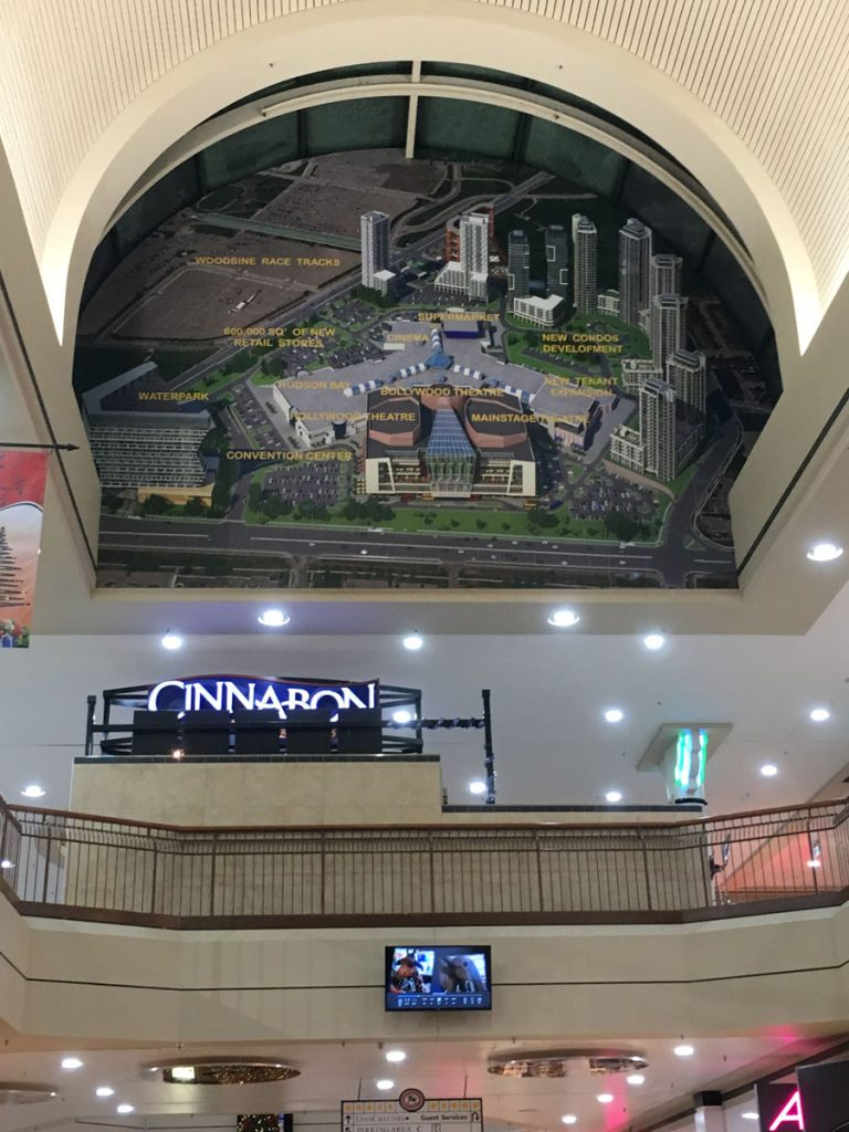 Woodbine Mall custom wall cover for advertisement
