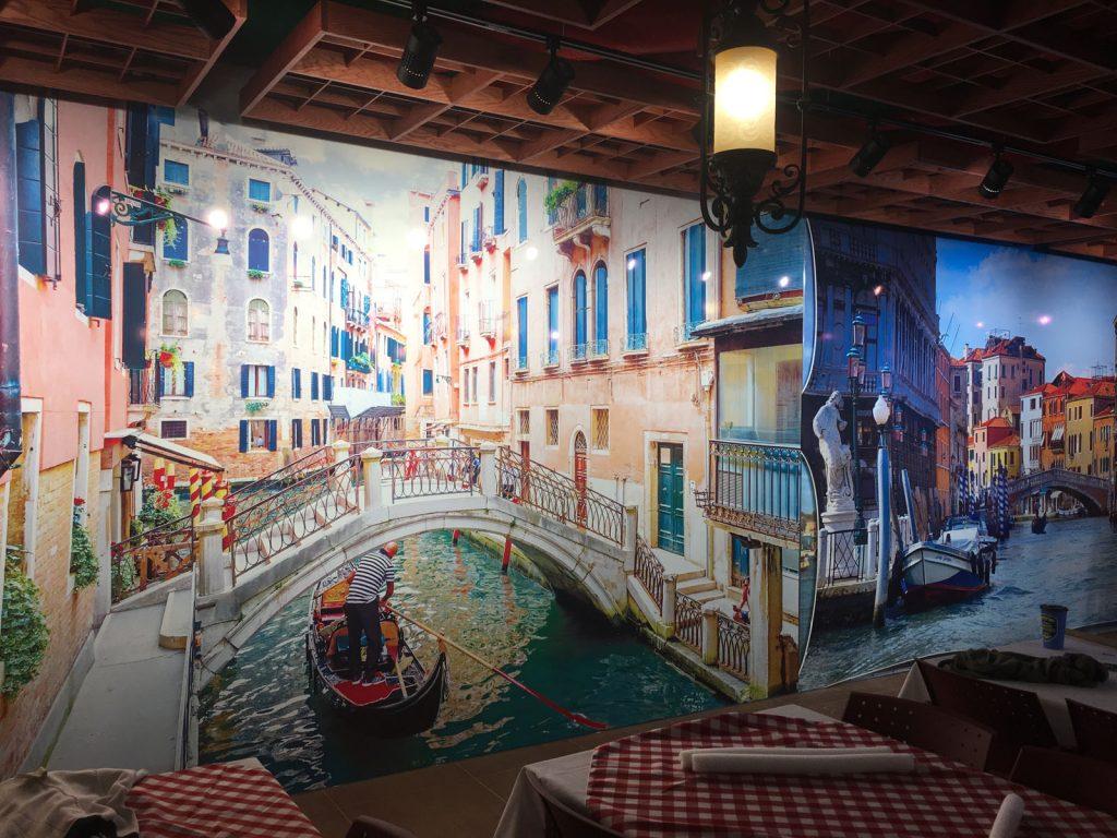 amazing restaurant with custom wall murals woodbridge