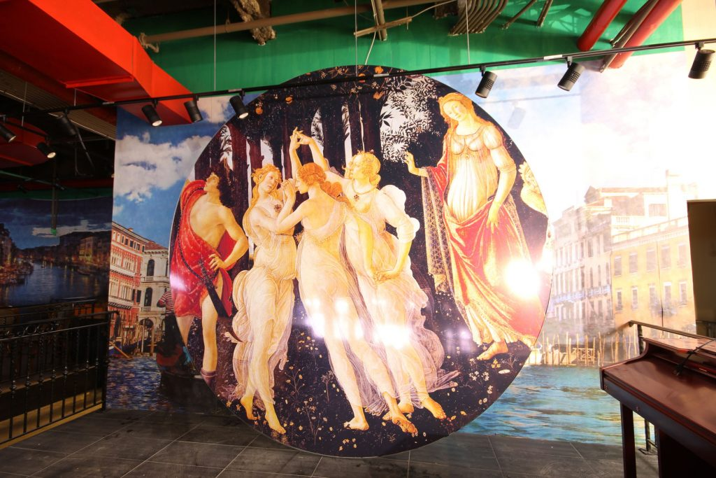custom wall mural for mall - stretch ceiling art GTA