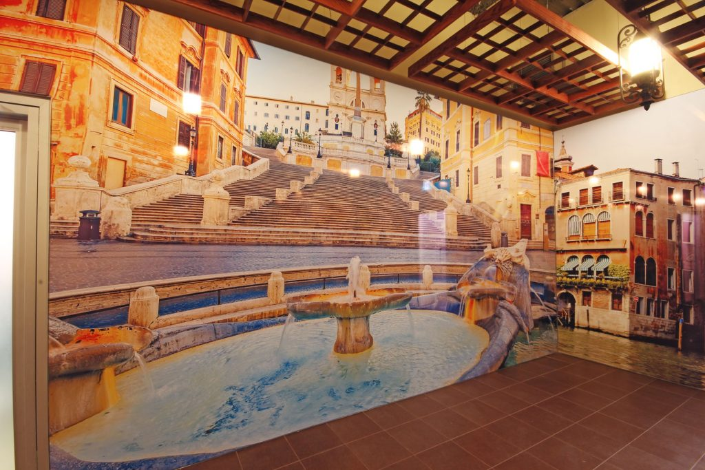 photo of Fountain custom wall cover dubai