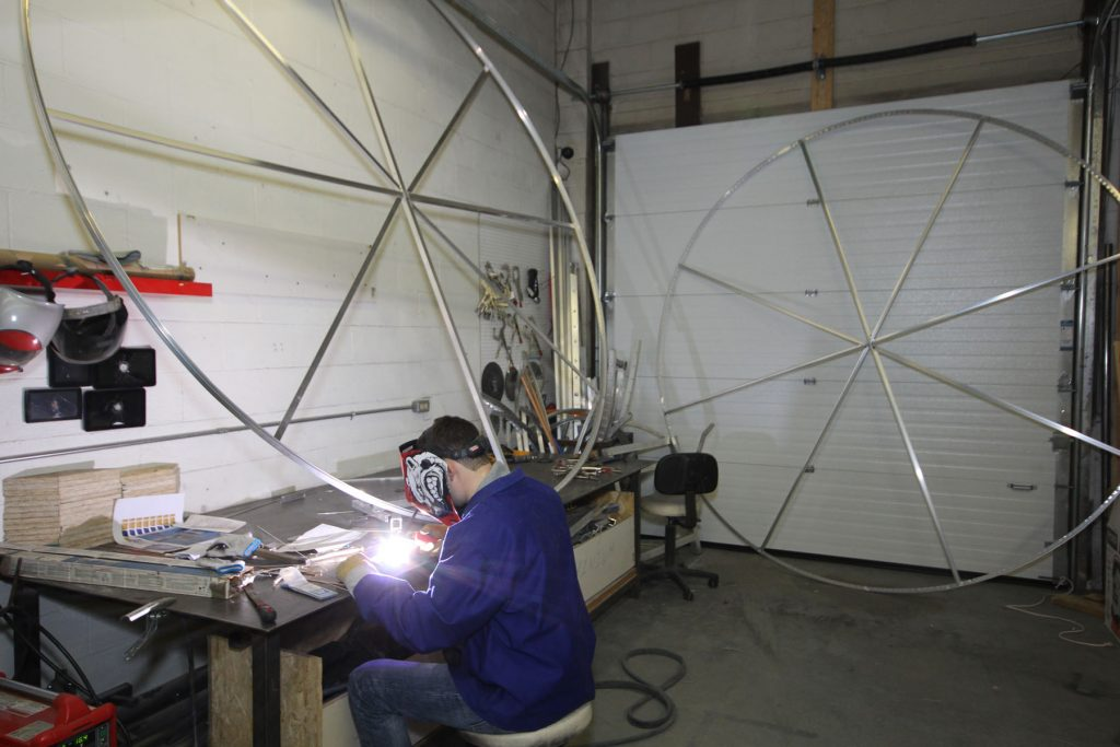 welding modular structure for stretch ceiling art china