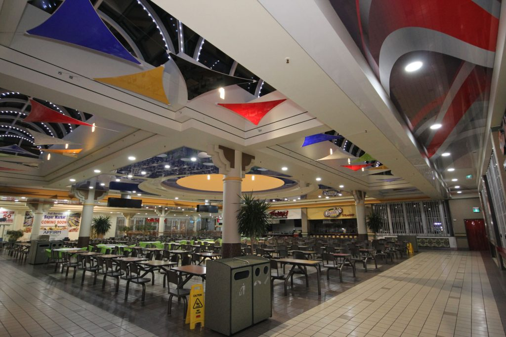 multilevel ceiling with multi color modular structures Ireland
