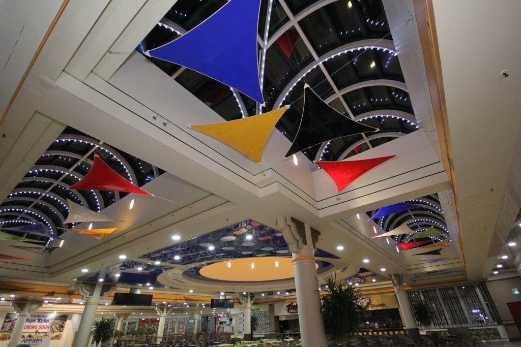 multi color stretch ceiling modular structures by laqfoil