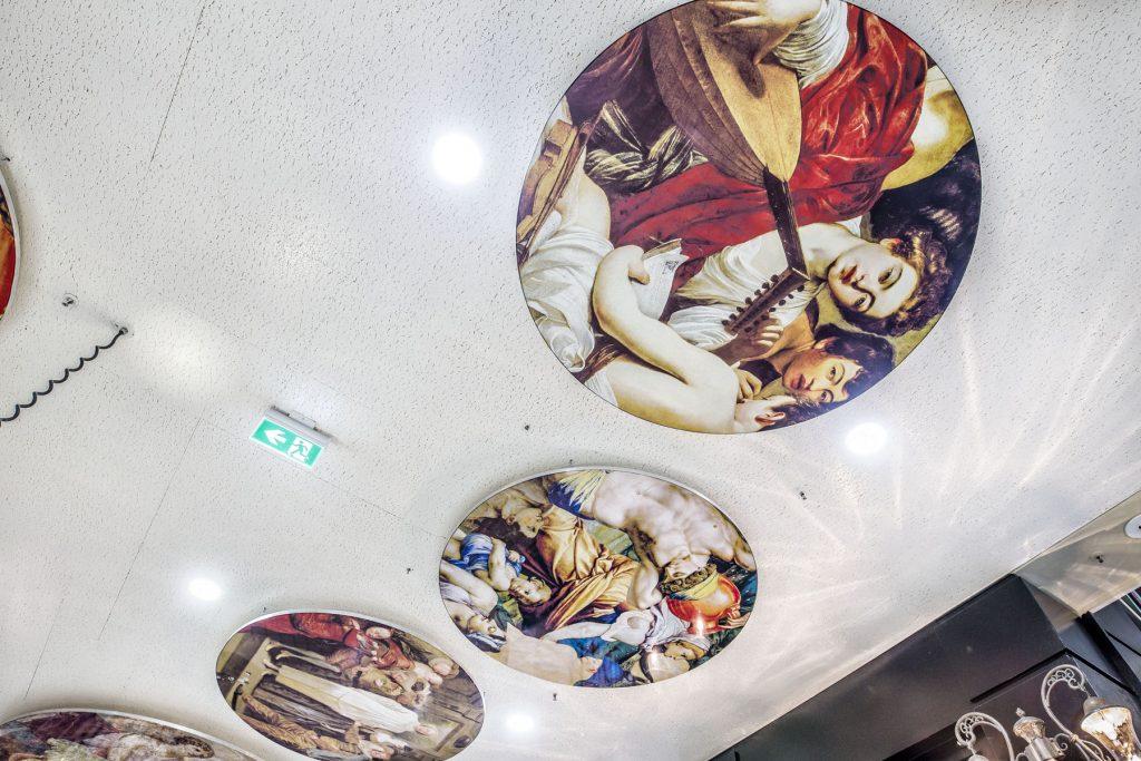 classic ceiling murals in luxury woodbine mall toronto
