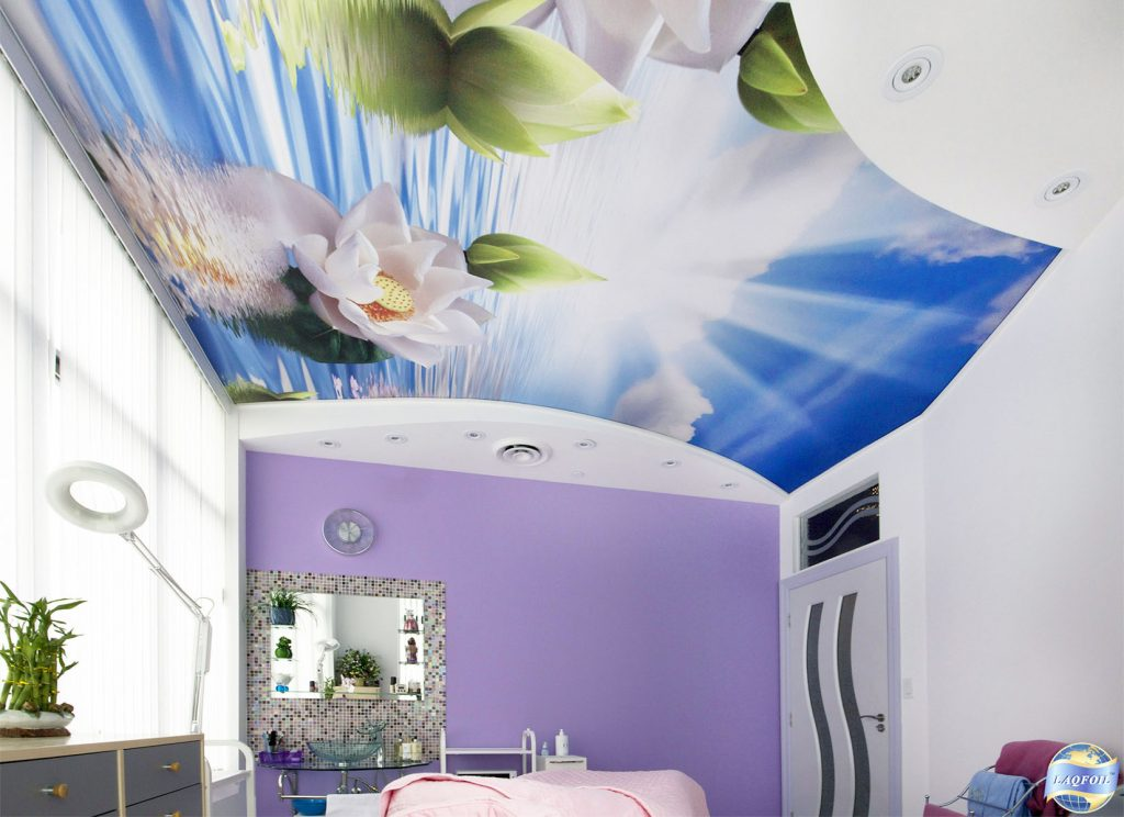 amazing clinic with custom printed ceiling UK