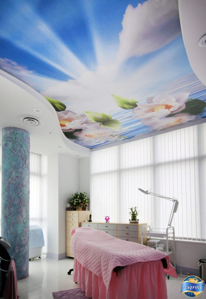 amazing printed ceiling of water and sky calgary