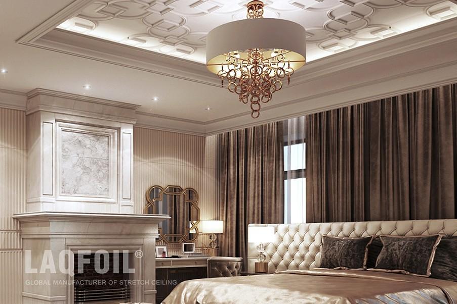 Multi-Level Custom Printed Ceiling in Matt Finish