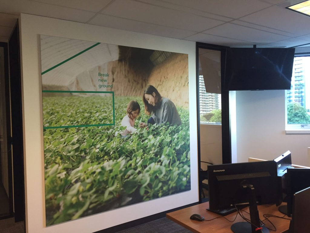 rogers office with custom wall mural toronto