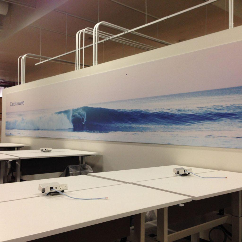 amazing long custom wall cover UK