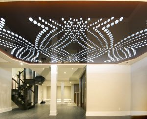 custom basement with Perforated Ceilings by laqfoil sydney