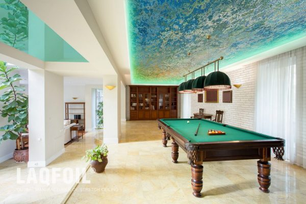 amazing Perforated Ceilings in game room