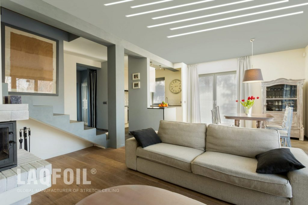 amazing liner lights ceiling in luxury family room