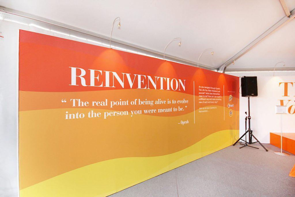 custom wall murals for oprah Tour tent USA