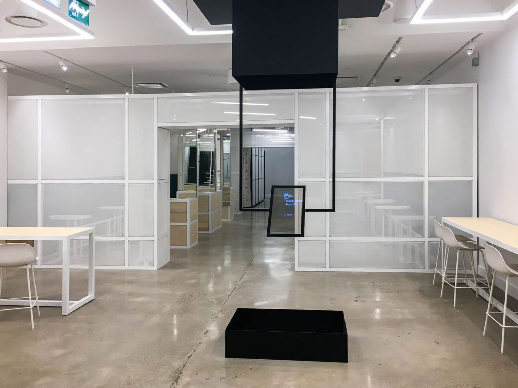 luxury office with Linear Lights Ceiling vancouver