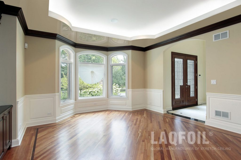 Laqfoil Project of Custom Home Stretch Ceiling Installation