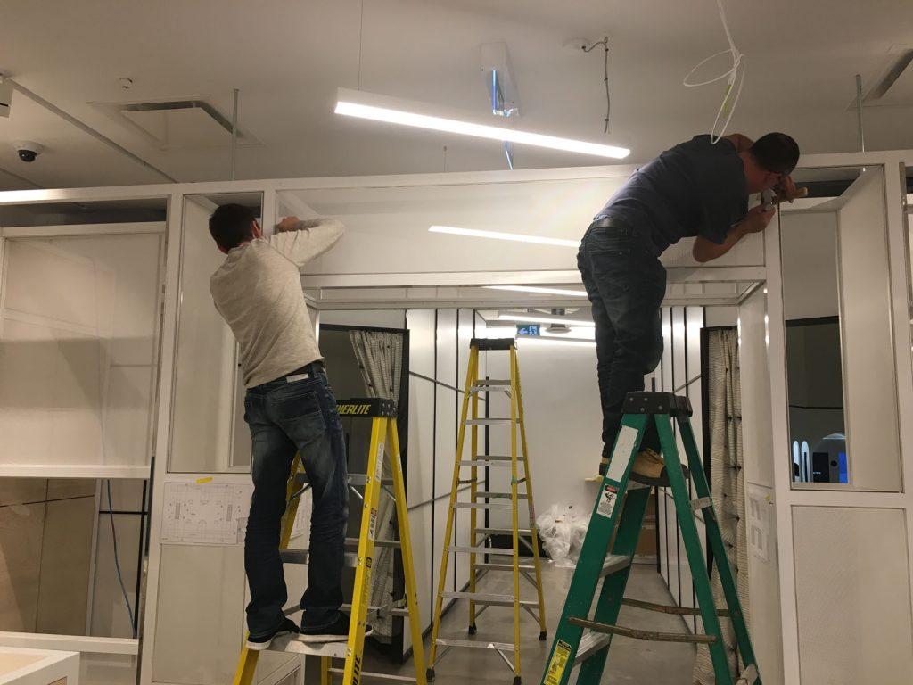 laqfoil team install glass walls