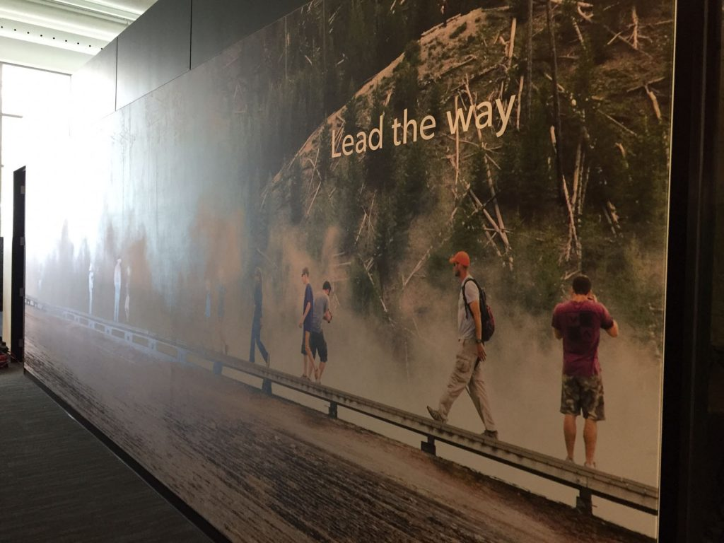 lead the way slogan on custom wall mural toronto