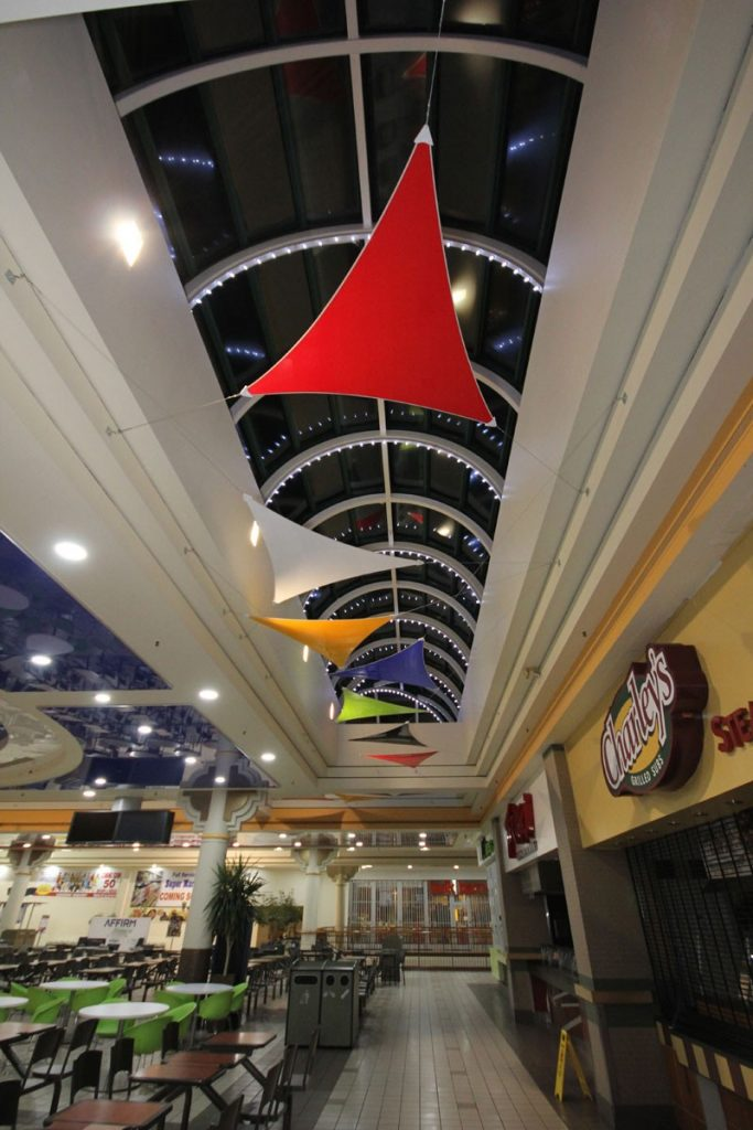 multi color modular structures-stretch ceiling film products los angeles