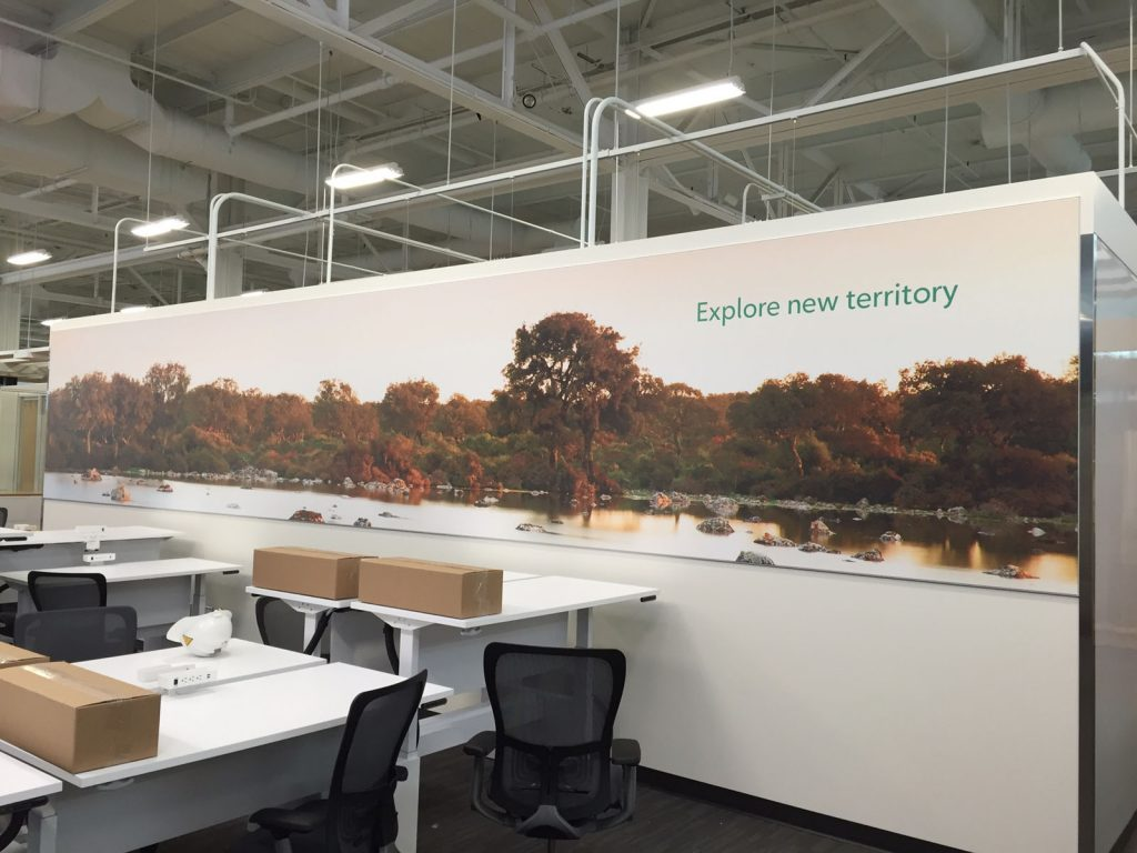 huge custom wall cover for rogers office
