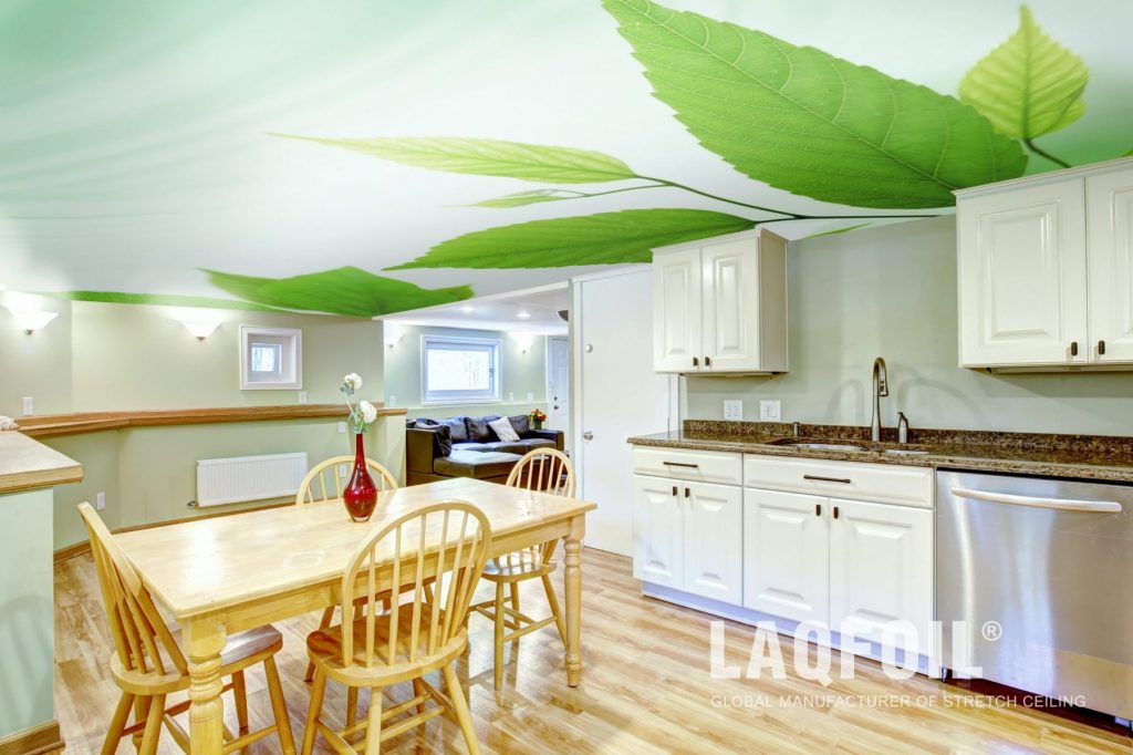 Kitchen Stretch Ceiling Installation Project