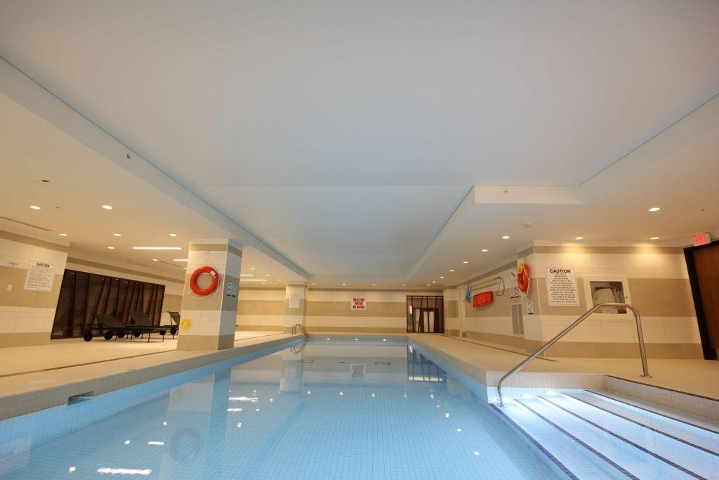 custom stretch ceiling in amazing pool Chicago