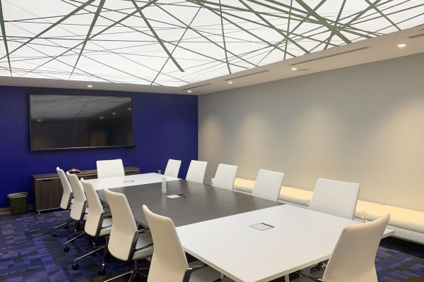 amazing white back-lit high gloss stretch ceiling