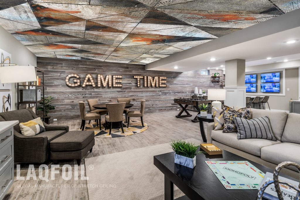 Acoustic Custom Printed Wall Mural And Stretch Ceiling