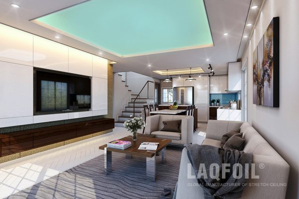 backlit high gloss stretch ceiling